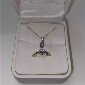 10k gold ring and necklace set